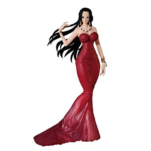 Siyushop Boa Hancock [rotes Kleid]: One Piece X - Lady Edge - Hochzeitsstatue - Hohe 9,8 Zoll