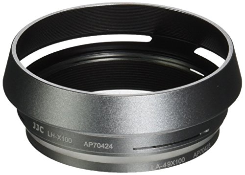 JJC LH-JX100 Silver Metal Lens Hood Adapter Ring for Fujifilm X100 X100S X100T Replace AR-X100