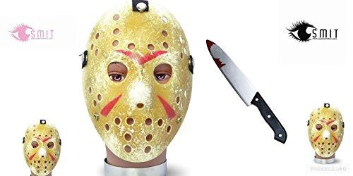 eitag der 13. Halloween Vorhees Gold Hockey Maske Bloody Küche Messer ()