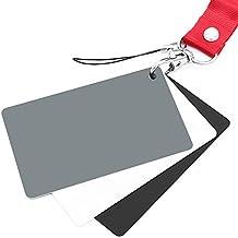 Anwenk gris Tarjeta Tarjeta de balance de blancos 18% Tarjeta de exposición fotografía Custom calibración cámara Checker Video, DSLR y Film