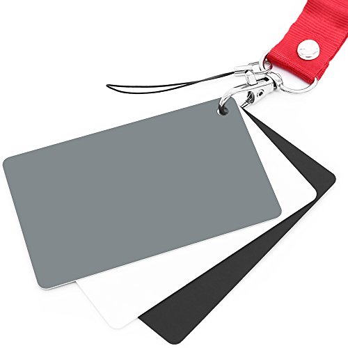 Anwenk grau Karte, Weiß Balance Karte 18% EXPOSURE Fotografie Karte Custom Kalibrierung Kamera Checker Video, DSLR und Film (Karte Grau)