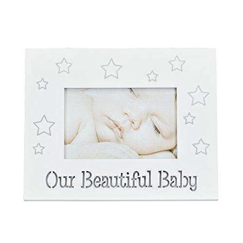Preisvergleich Produktbild LED baby photo frame - LED Baby Fotorahmen - Baby Bilderrahmen mit LED Beleuchtung Schriftzug - Our Beautiful Baby
