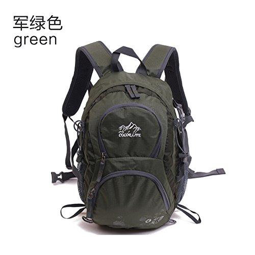 Sqi borsa a tracolla, femmina 20l outdoor attrezzature sportive, multi-funzione travel bag di alpinismo, escursionismo maschio, tattiche di piccolo zaino,il verde militare