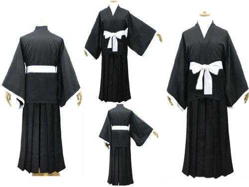 Ichigo Shinigami Kostüm - Sunkee Japanische Anime Bleach Cosplay Kimono Mantel, Größe L :(Größe 162-170cm,Gewicht 55-60kg)