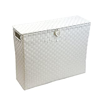 Arpan Toilet Roll Holder Bathroom Multipurpose Storage Unit Polypropylene Woven On Metal frame - White by ARPAN