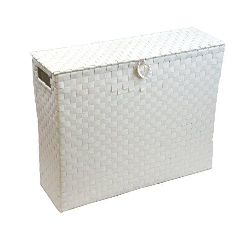 Arpan Toilet Roll Holder Bathroom Multipurpose Storage Unit Polypropylene Woven On Metal frame - White by ARPAN