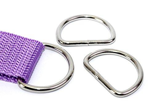 D-Ringe 10 Stück 20x15x3mm Halbrundringe Stahl/D20