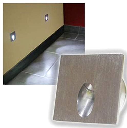 LED Foco Lámpara de pared rectangular LED empotrable Paso Escaleras lámpara Veranda...