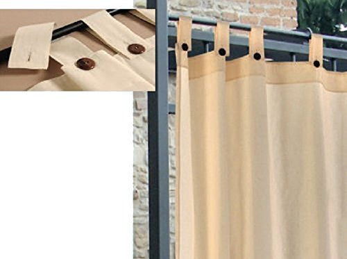 FRASCHETTI Vorhang auf Hosenträger für Pavillon 160x 270cm Baumwolle/Polyester