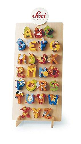 Preisvergleich Produktbild 5 Sevi Holzbuchstaben Tiere für Wunschname inkl Geschenkverpackung Türbuchstaben Kinderbuchstaben Holz Dekobuchstaben (5 Holzbuchstaben)