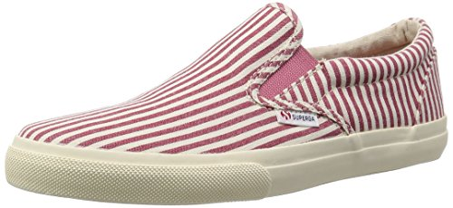 Mokassin - 2311-cotstripedu Red-White