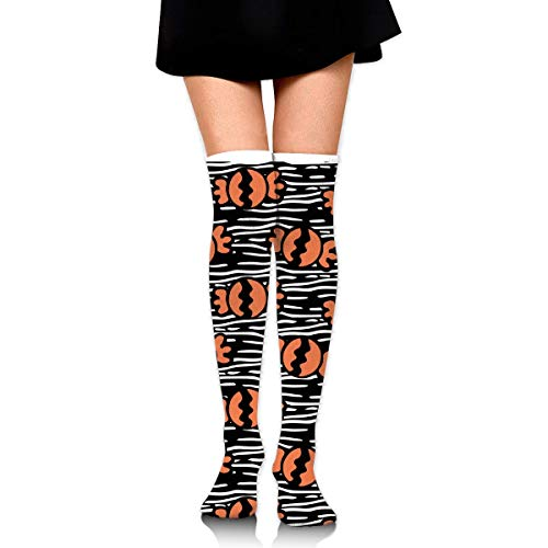 suzhouxiu Happy Halloween Candy Pattern Womens Knee High Socks Long Socks Sport Socks Thin for Running,Medical,Athletic,Travel