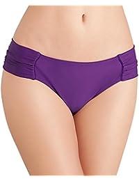 14 NEW Panache Annalise Gather Bikini Pant in Black Floral Print Size 10 12