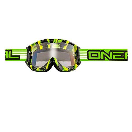 O'Neal B1 RL Goggle Crawler MX Cross DH Brille Motocross Enduro Downhill Offroad grün schwarz, 6023-201