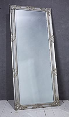Wandspiegel Spiegel silber 180 x 80 cm Antik-Stil barock m. Facettenschliff