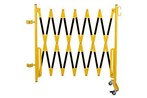 Doc Grille de protection Ciseaux montagekit pour les poteaux de blocage existants (non inclus dans la livraison) 3600 mm, Ø 60 mm Jaune/Noir