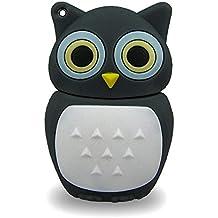 818-TEch No13700080016 Hi-Speed 2.0 USB-Stick 16GB Eule Vogel Uhu grau