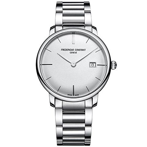 Frederique Constant Slimline FC-306S4S6B3 40mm Automatic Silver Steel Bracelet & Case Synthetic Sapphire Men's Watch