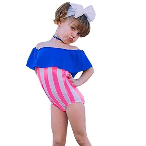 i-uend 2019 Baby Badeanzüge - Kinder Kinder Mädchen Bikini Rüschen Strand Badeanzüge Badeanzüge + Stirnbänder für 0-4 Jahre