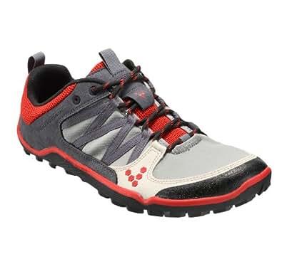 Vivobarefoot Men's Neo Trail M Running Shoe,Grey/Red,40 EU/7.5 M US