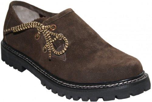 Haferlschuhe Trachtenschuhe Trachten Schuhe Echtleder wildleder Braun, Schuhgröße:44
