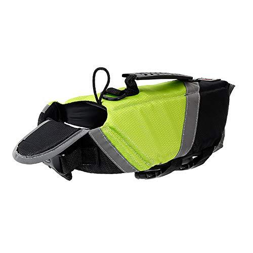 Noseeyou Sommer Haustier Schwimmweste Haustier Kleidung Wasserdicht Nylon Hund Sicherheitsweste Hund Badeanzug Outdoor Training Schwimmen Anzug Grün L, XL,Green,L