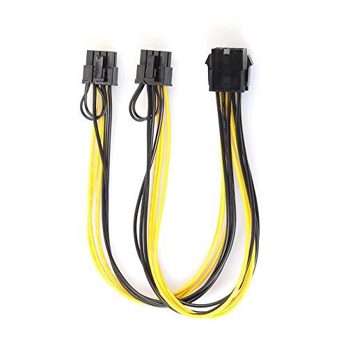 shuaishuang573 8Pol Dual 8Pin (6Pin + 2Pin) PCI-E SATA Video Power-Kabel für Grafikkarte - Pci-express-dual-monitor -