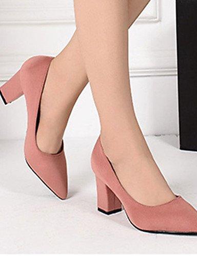 WSS 2016 Chaussures Femme-Décontracté-Noir / Rose / Rouge / Gris-Gros Talon-Talons-Chaussures à Talons-Laine synthétique pink-us4-4.5 / eu34 / uk2-2.5 / cn33