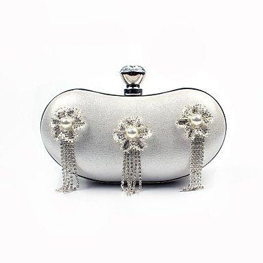 pwne L. In West Woman Fashion Luxus High-Grade Quaste Diamond Flower Abend Tasche Silver
