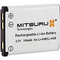 Mitsuru® 3W 3.6V Batterie originale pour Aldi Traveler IS-12/IS12Appareil photo