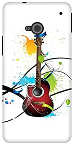 The Racoon Lean Colours Of Guitar hard plastic printed back case for HTC One (M7)