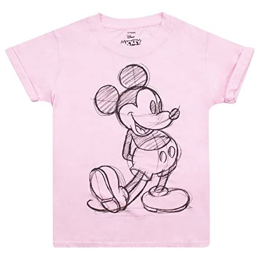 Disney-Mickey-Mouse-Girls-Mickey-Sketch-T-Shirt