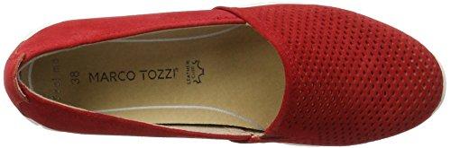 Marco Tozzi Premio 24709, Mocassini Donna Rosso (Chili 533)