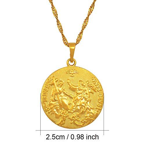 DAOMI Halskette Heiliger Geist Amor Jesus Halskette Anhänger Gold Farbe Kreuz Halsketten Für Frauen Männer