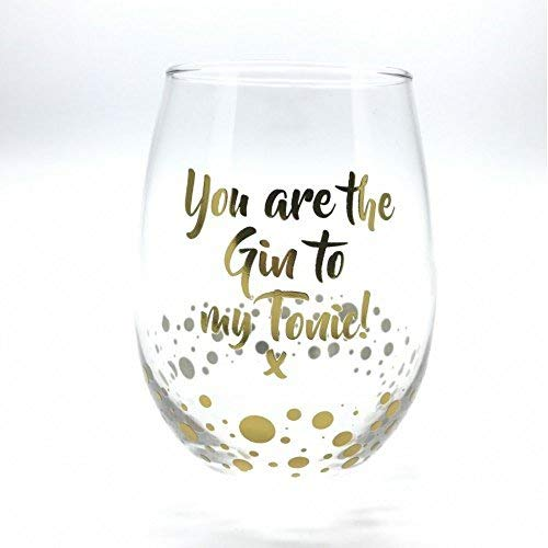 GIN Glas?gold Edition ohne Stiel Glas?You Are The Gin to my Tonic. X