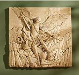 53,3cm St. Michael Erzengel Satan Skulptur Statue Wand Decor inspiriert von Guido...