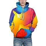 ZODOF Suéter de Graffiti Colorido La Blusa Superior Casual de la Manga de los Casquillos de la...