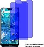 2X Crystal Clear klar Schutzfolie für Nokia 7.1 Displayschutzfolie Bildschirmschutzfolie Schutzhülle Displayschutz Displayfolie Folie