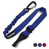 Toozey Hunde Sicherheitsgurt für Auto, Hundesicherheitsgurt mit Isofix, Profi Karabiner und Elastischer Ruckdämpfung, Einstellbar Hundegurt, Höchste Sicherheit für alle Hunderassen und Katzen, Blau