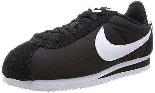Schwarz Cortez Nike (Nike Herren Classic Cortez Nylon Gymnastikschuhe, Schwarz (Blackwhite 011), 41 EU)