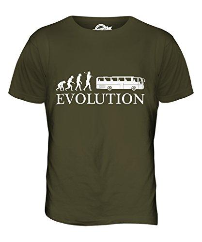 CandyMix Reisebus Evolution Des Menschen Herren T Shirt Khaki Grün