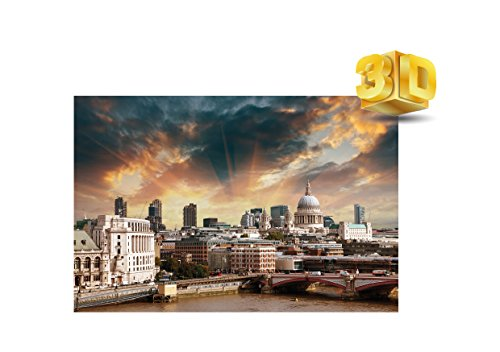 3d cartolina di st paul cathedral and the city of london