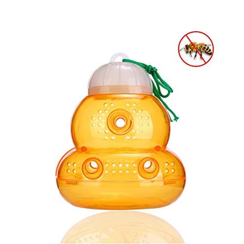 Wespenfalle Hornisse,Killer Repellent Hornet Falle Bienenfänger Honig Topf Gebrauch Wespenfalle Außen Wespe Killer Insektenvernichter für Bienengelb Jacken Hornets Bienen (Biene Honig Topf)