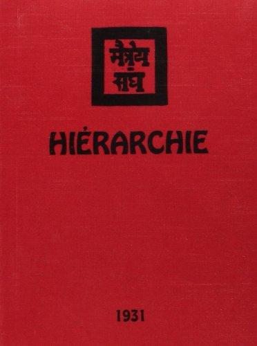La hiérarchie, 1931