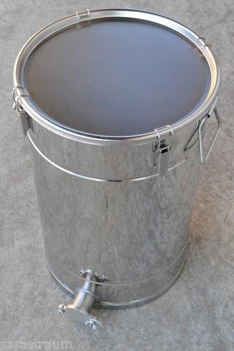 KP Professioneller Industrie-Hobbock für ca.50 kg Honig ca 35 Liter - aus lebensmittelechtem Edelstahl