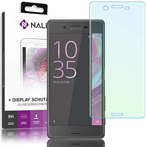 NALIA Schutzglas kompatibel mit Sony Xperia X, 3D Full-Cover Displayschutz Handy-Folie, 9H gehärtete Glas-Schutzfolie Bildschirm-Abdeckung Schutz-Film HD Screen Protector Tempered Glass - Transparent