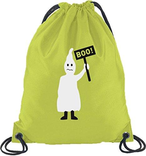 Halloween Grusel Kostüm Turnbeutel Rucksack Sport Beutel mit Halloween - Boo Gespenst Motiv Limone