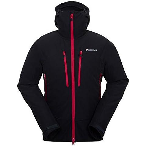 Montane Mens Saracco Giacca, colore: nero, Uomo, Black, XL
