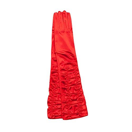 Gants en satin et dentelle pour femme, style vintage long ou court, PVC Style 22