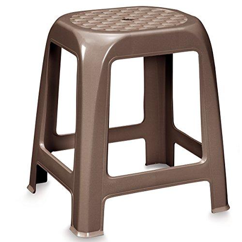 TAUBE Hocker aus Kunststoff • Sitzhocker Hocker Küchenhocker Badhocker Duschstuhl Campingstuhl Kunststoff